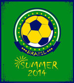 Brazilian football poster. Summer 2014 — Stock Vector