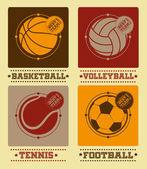 Sport balls vector set — Stock Vector