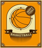 Basketball retro poster. — ストックベクタ