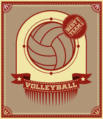 Volleyball retro poster — Stock Vector