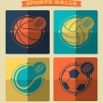 Set of sports balls. — Stock Vector #48938083