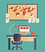 Home office for freelancer — Stock Vector