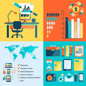 Freelance infographic. — Stock Vector