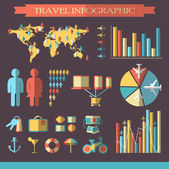 Travel infographics with icons — Wektor stockowy