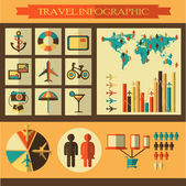 Travel infographics with icons — Vector de stock