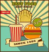 Menu de fast-food. — Vetorial Stock