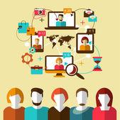 Communication. Social network. — Stock Vector
