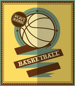 Flat design. Basketball poster. — Stock Vector