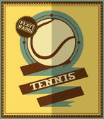Flat design. Retro tennis poster — Stock Vector