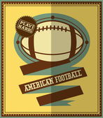 Flat design. American football retro poster. — Stock Vector