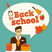 Back to school - background with place for your text — Stock Vector