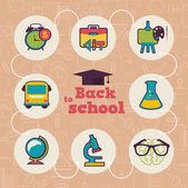 Okul icon set — Stok Vektör