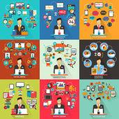 Set of freelance jobs. — Stock Vector