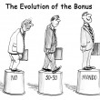 Stock Photo: Evolution of bonus on pedestal