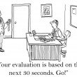 Stock Photo: Your evaluation will be based on 30 seconds