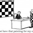 Checkered painting is a must have from Jack - Stock Photo