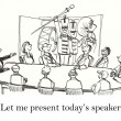 Let me present the speaker for our meeting - Stock Photo