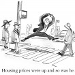 Housing prices were up and so was he — Zdjęcie stockowe