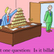 Stock Photo: Boss asks just one question, is it billable