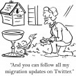You can follow all my migration updates - Stock Photo