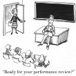 Performance review is right now for teacher — Stock Photo
