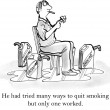 He had tried many ways to quit smoking — Stock Photo