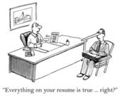 Everything on the resume is true right — Foto Stock
