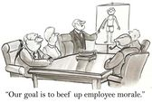 Our goal is to beef up employee morale — Stock Photo