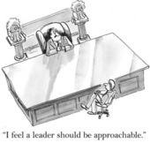 I think a leader should be approachable — Stock Photo