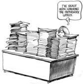 я действительно игнорирует документы в последнее время — Стоковое фото