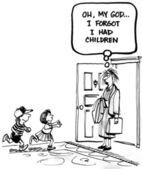 Oh můj bože jsem zapomněl jsem měla děti — Stock fotografie