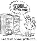 Over-Protective Father says to stand back — Stock Photo