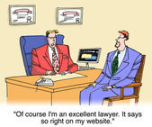 Of course I am an excellent lawyer — 图库照片