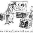 I love what you've done with your trash - Foto de Stock