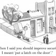 When I said you should improve security — 图库照片 #16179395
