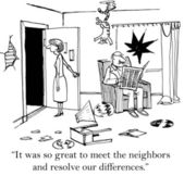 It was so great to meet the neighbors — Stock Photo