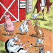 Farm animals are all laughing — Foto de Stock
