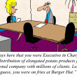 Executive in Charge of french fries is applying for a new job. — Stock Photo #17144651