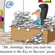 Have you seen my 'Organization is the Key to Success' poster? — Stock Photo
