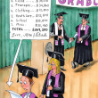 Stok fotoğraf: Graduation comes with bill