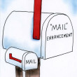 Enhance the male mail box - Stock Photo
