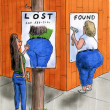 Butt is lost and found - Stock Photo