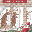 Every reindeer buys for a buck - Stock Photo