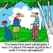 Entrepreur está aprendendo que ele tem absolutamente nenhuma auto-disciplina — Foto Stock