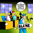 I wonder where the blame is going? — 图库照片