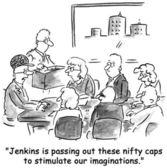 Jenkins is flauwvallen handige caps voor onze manier van denken — Stockfoto