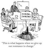 Interpretación de disminuir nuestra resistencia al cambio — Foto de Stock