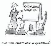 Knowledge sharing — Stock Photo