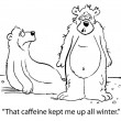 Caffeine kept bear up all winter — Foto de Stock
