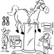 Carousel horse up on pole — Stock Photo